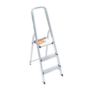 Escalera Familiar De Aluminio KUSHIRO 3 Escalones EKH3