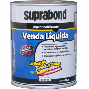 Venda Liquida Impermeabilizante SUPRABOND Blanca 4 Kgs